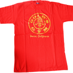 Gold Gym T Shirt Red